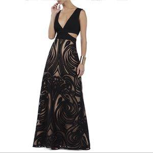 NWOT BCBGMAXAZRIA Marilyne V-Neck Cutout Gown